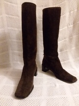Gucci Boots Brown Suede size 9.5 B Italy - $259.49