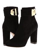 SALVATORE FERRAGAMO Boots Size: 10.5 Black Nero Fiamma Suede NEW FREE SH... - $1,498.00