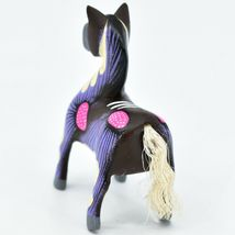 Handmade Alebrijes Oaxacan Copal Wood Carving Painted Folk Art Horse Figurine image 4