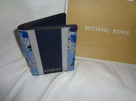 MICHAEL KORS BUTTERFLIES JET SET TRAVEL PASSPORT CASE WALLET MK LOGO SAP... - $54.45