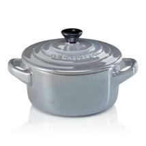 Le Creuset Mini Stoneware Cocotte, 10cm mist gray - $260.00
