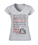 HARPER LEE AS YOU GROW OLDER QUOTE - NEW COTTON GREY LADY TSHIRT - $26.23