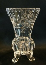 "Cut Crystal Footed Vase 8 Point Star 6-1/2"" - $39.99"