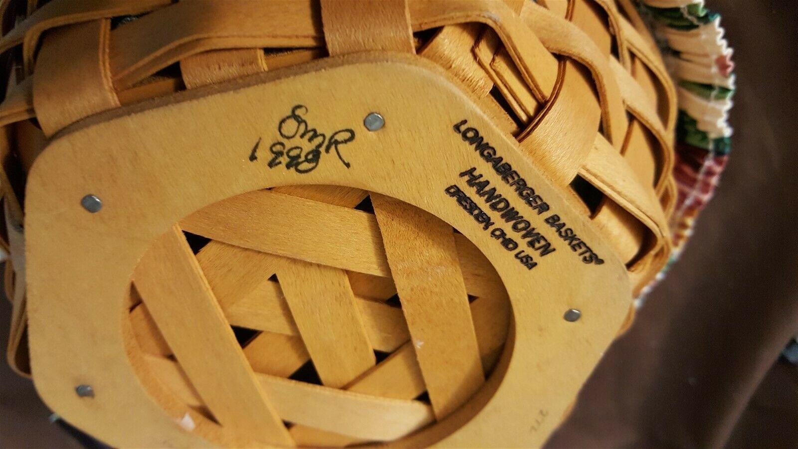 """Longaberger 1998 Generations Basket 6 Sided 7"""" Basket Liner & Protector"""