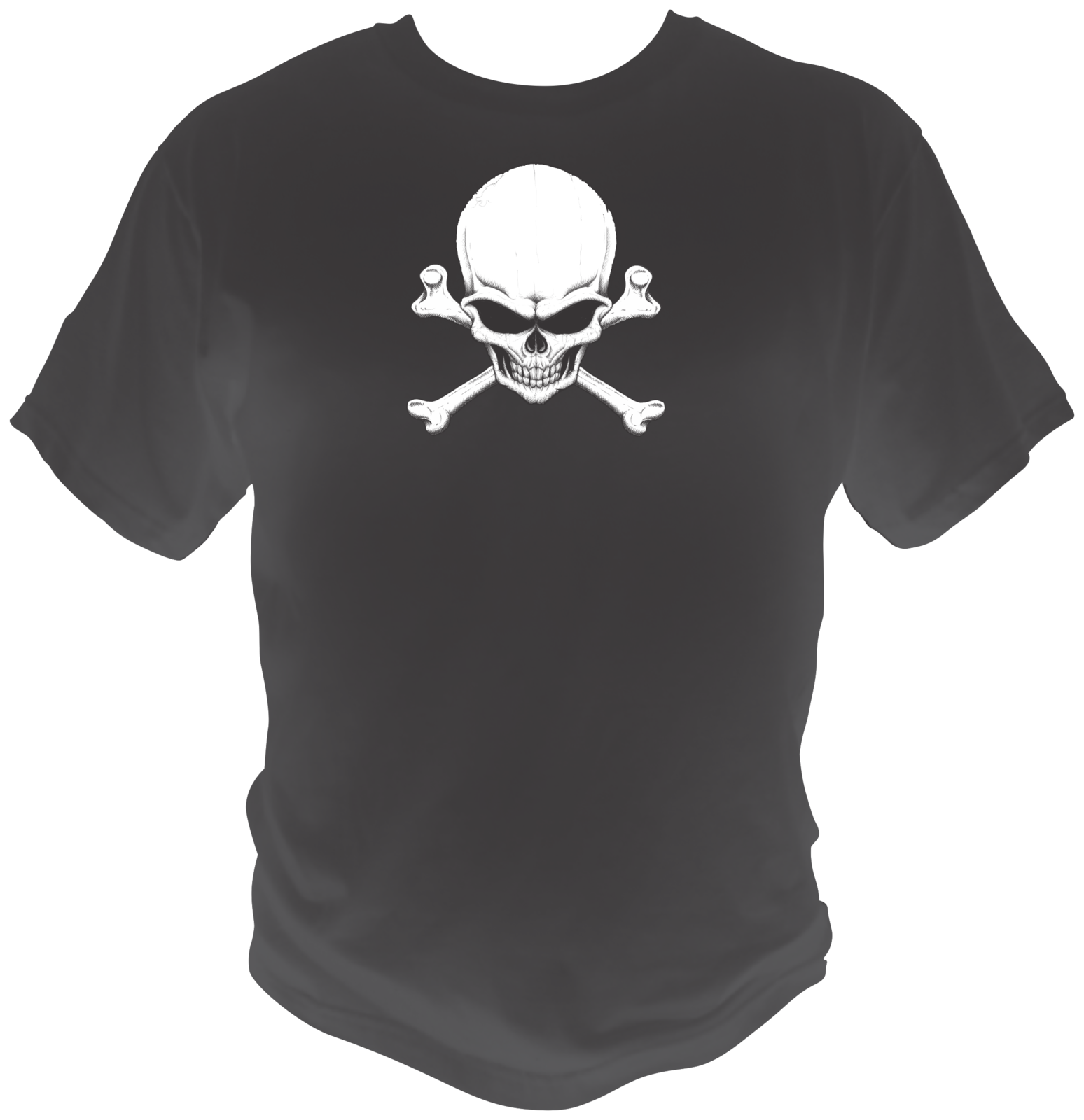 Crossbones danger skull black