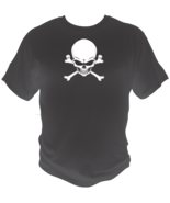 Skull And Cross Bones Style Graphic T Shirt Black Red White L XL 2XL - $19.99