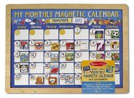 My Monthly Magnetic Calendar + FREE Melissa & Doug Scratch Art Mini-Pad Bundle [ - $29.45