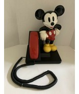 Vintage Disney Mickey Mouse Phone AT&T 1990's Push Button Telephone  - $22.40