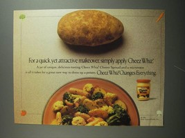 1991 Kraft Cheez Whiz Ad - For a quick, yet attractive makeover, simply apply - $14.99