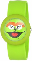 NEW Sesame Street Oscar the Grouch Silicone Green Slap Watch by Viva Time image 1
