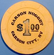 $1 Casino Chip. Nugget, Carson City, NV. V62. - $4.29
