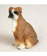 BOXER (UNCROPPED EARS) TINY ONES DOG Figurine Statue Pet Lovers Gift Resin - $9.99