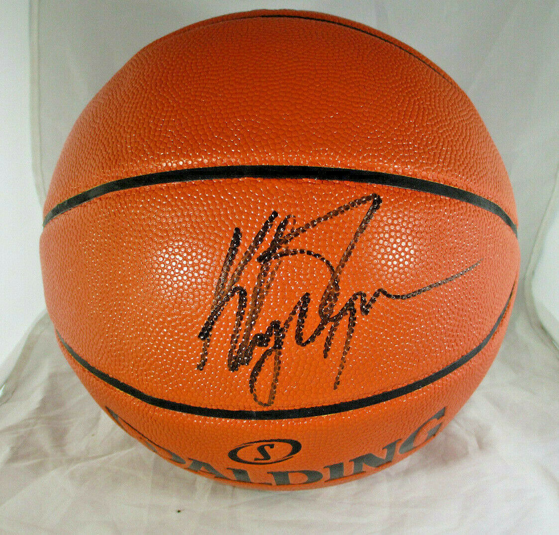KLAY THOMPSON / GOLDEN STATE WARRIORS / AUTOGRAPHED FULL SIZE BASKETBALL / COA