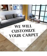 Custom Personalized Kitchen Living Room Area Rugs USA Washable Rectangul... - $16.45+
