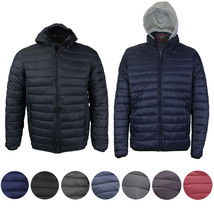 Maximos Men's Slim Fit Lightweight Zip Insulated Packable Puffer Hooded Jacket image 1