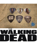 6 The Walking Dead Character  SINGLE SIDED PICTURE GUITAR PICKS  - $5.00