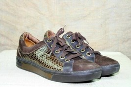 Cole Haan G Series Snakeskin and Suede Fashion Satin Lined Tennis Shoe EUC - $46.49