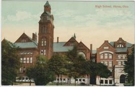 Akron Ohio OH Postcard Vintage High School Unused - $2.99