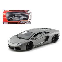 Lamborghini Aventador LP700-4 Grey 1/18 Diecast Car Model by Motormax 79... - $51.45
