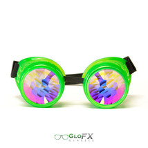 GloFX Glow Green Kaleidoscope Goggles Rave Music Festival Light Show TRIPPY - $47.99+