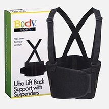 """Body Sport Ultra Lift Back Support With Suspenders, Black, X-Large (40"""" - 55"""" Wa - $35.99"""