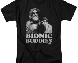 The Six Million Dollar Man Bionic Buddies Retro 70's graphic t-shirt NBC765 image 3