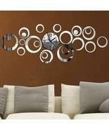 Quartz Wall Clock Europe Large Decorative Clocks 3d Acrylic Mirror Livin... - $15.88