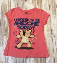 """Stars and Sprinkles Girls Pink shirt """"I decided to be awesome today"""" siz... - $5.94"""