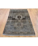 """2'10""""x4'7"""" Vintage Afghan Baluch HandKnotted Pure Wool Oriental Rug G42284 - $164.50"""