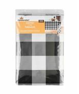 "PEVA 60"" x 84"" Black & White Checks Tablecloth - $14.39"