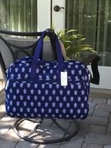 VERA BRADLEY GRAND TRAVELER BAG TOTE TROLLEY NAVY BLUE WHITE $138 in SEA... - $1.669,82 MXN