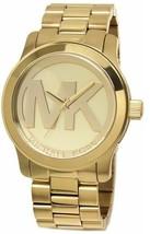 Michael Kors MK5473 Runway ᔕᒪᗴᗴᛕ Champagne Dial MK Logo 45mm Watch - $116.00
