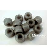 25 5 x 9 mm Czech Glass Crow Beads: Opaque Grey - $1.68