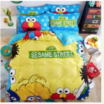 Sesame Street - Yellow Red Blue - Kids Twin Duvet Set - Cotton Mix 3 Piece - $55.85