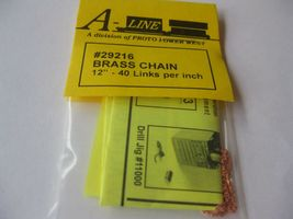 """A-Line #29216 Brass Chain 12"""" - 40 Links per inch image 3"""