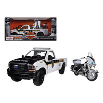 1999 Ford F-350 Super Duty Pickup Truck 1/27 and 1/24 2004 Harley Davids... - $34.69