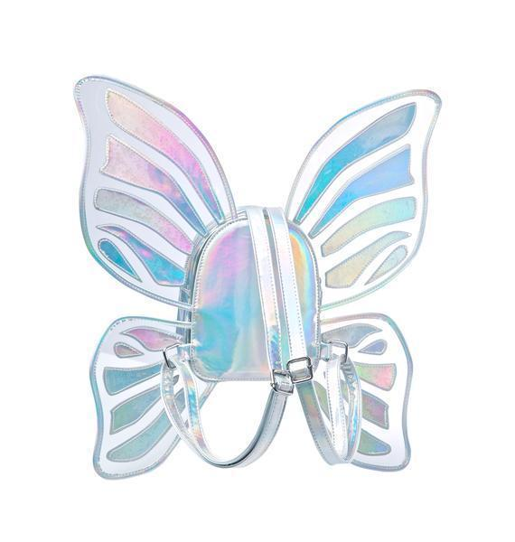Kawaii Clothing Cute Harajuku Ropa Butterfly Wings Bag Backpack Laser Hologram