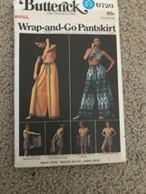 Vintage Butterick WRAP & GO PANTSKIRT EVENING LENGTH Sewing Pattern Size... - $23.36