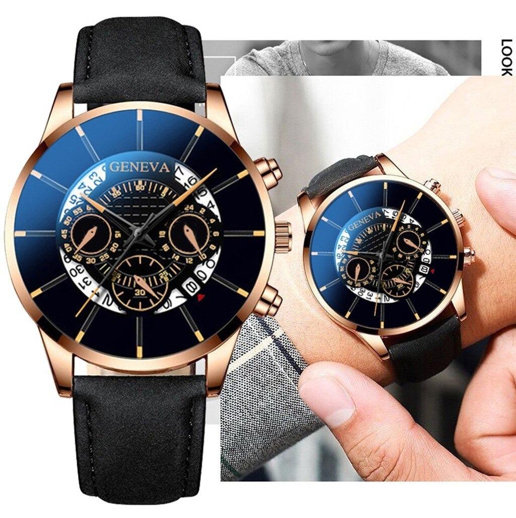MAN WATCH Stainless steel GIFT Geneva Luxury Business Fashion Top brand watch - $9.20