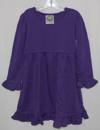 Blanks Boutique Long Sleeve Empire Waist Purple Ruffle Dress Size 4T