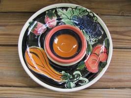 "Vicki Carroll~Bon Appetite~Large 12¼"" Round~Chip n Dip Bowl - $58.04"