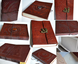 Hand Made Paper Journal Notebook Diary Leather Buddha Elephant Tradition... - $25.30