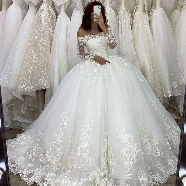 Primary image for Gorgeous Dubai Ball Gown Wedding Dresses 2020 Vestido De Novia Princesa Long Sle