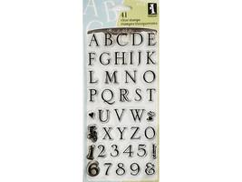 Inkadinkado Somerset Alphabet Stamp Set #97718