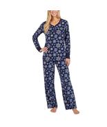 Nautica Women's 2 Piece Snowflake Fleece Pajama Sleepwear Set, XXL - $19.79
