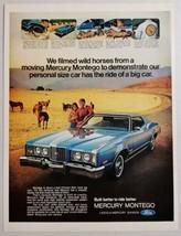 1972 Print Ad The 1973 Mercury Montego 2-Door Couple & Horses on the Range - $11.56