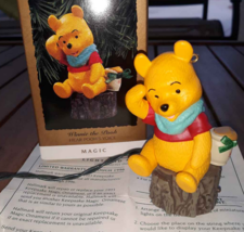 Winnie The pooh Hear Pooh's Voice Magic Hallmark Christmas Ornament Keep... - $8.90