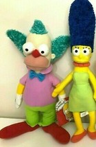 Set of 2 Large Plush Toys Simpsons.16 -18 inch Licensed. NEW. Krusty and Marge - $25.47