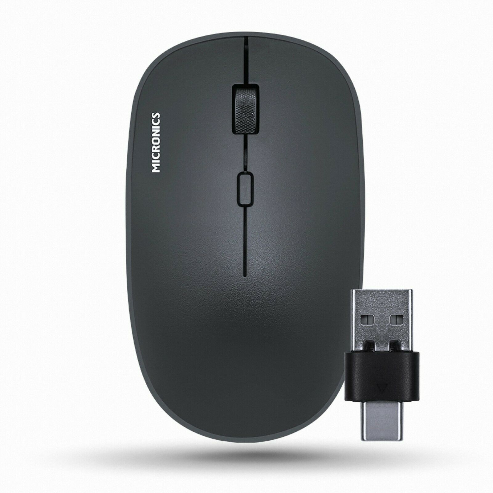 Micronics E5S Wireless Silent Mouse USB C Type Multi Receiver Low Noise Mouse