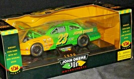 Bank Diecast with Key 1996 John Deere #23 Green Stock Car - 1:24 Scale with Box  image 2